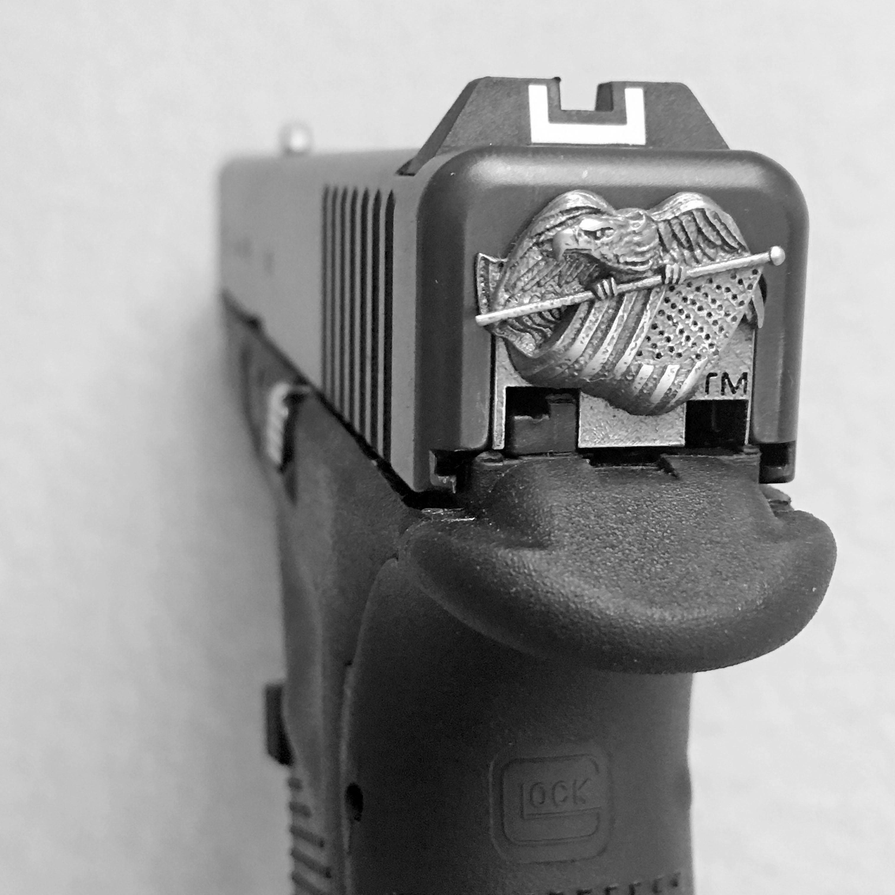 Lead Tactical Glock 174 Eagle And Flag Slide Rear Back Plate